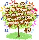 Scimmie graziose - albero della scimmia Immagini Stock Libere da Diritti