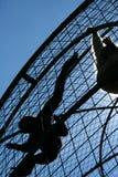 Scimmie messe in gabbia Immagini Stock
