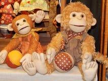 Scimmie raccoglibili fatte a mano del giocattolo Fotografia Stock Libera da Diritti