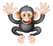 Scimpanzé sveglio del bambino del fumetto Fotografie Stock