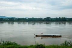 Scinic längs sidan Mekong River Royaltyfri Fotografi