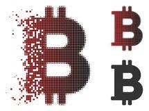 Scintilla Dot Halftone Bitcoin Icon Royalty Illustrazione gratis