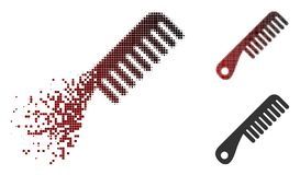 Scintilla Dot Halftone Comb Icon illustrazione vettoriale
