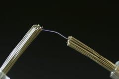 Scintilla elettrica fotografie stock