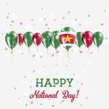 Scintillare di festa dell'indipendenza del Surinam patriottico Fotografia Stock