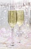 Scintillare festivo scintillante di Champagne, skoal immagini stock