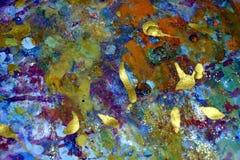 Scintillare luminoso spruzza, colori cerei vivi variopinti, fondo creativo di contrasti fotografia stock libera da diritti