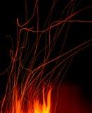Scintille astratte del fuoco Fotografia Stock