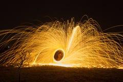 Scintille astratte del fuoco Fotografie Stock