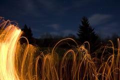 Scintille del fuoco Fotografia Stock Libera da Diritti