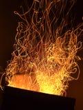 Scintille del fuoco Immagine Stock