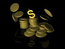 Scintille delle monete Immagine Stock Libera da Diritti