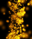 Scintille di colore giallo Fotografia Stock