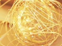 Scintille dorate Fotografie Stock Libere da Diritti