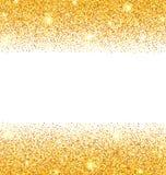 Scintille dorate astratte su fondo bianco Polvere di scintillio dell'oro Fotografie Stock Libere da Diritti