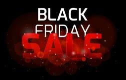 Scintille luminose a di venerdì del fondo nero di vendita Immagine Stock