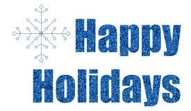 Scintillement bleu bonnes fêtes Images libres de droits