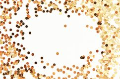 Scintillement d'étincelles d'or images libres de droits