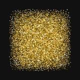 Scintillement d'or fait de coeurs Photo libre de droits