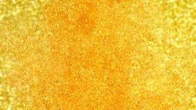 Scintillement dans l'eau Peinture d'or réagissant dans l'eau créant des formations abstraites de nuage Peut être employé comme tr banque de vidéos