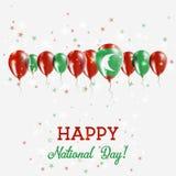Scintillement de Jour de la Déclaration d'Indépendance des Maldives patriotique Photos libres de droits