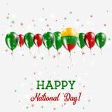 Scintillement de Jour de la Déclaration d'Indépendance de la Lithuanie patriotique Image stock