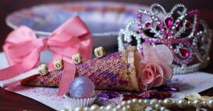 scintillement de mots de princesse d'icecreamcone d'amour Photo stock