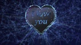 Scintillement de salutation d'amour de coeur illustration stock