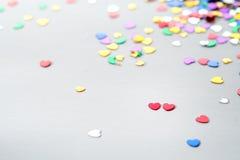 Scintillement de scintillement de coeur coloré Images libres de droits