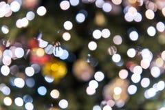 Scintillement Defocused de Noël images libres de droits