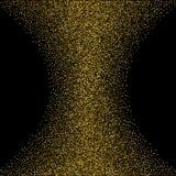 Scintillement vert Fond de la poussière d'or sur le noir Étincelles d'or Vecteur Image libre de droits