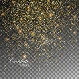 Scintillements d'or de confettis illustration de vecteur
