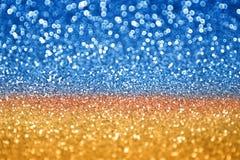 Scintillio blu dell'oro Fotografia Stock