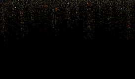 Scintillio o fondo dorato della pioggia della scintilla della polvere Vettore Fotografia Stock Libera da Diritti