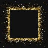 Scintillio rotondo dell'oro illustrazione di stock