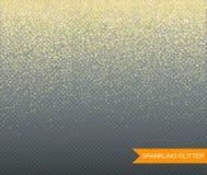 Scintillio scintillante su fondo trasparente per le cartoline d'auguri Vettore immagini stock libere da diritti