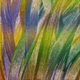 Scintillio sparso su fondo Fondo della pittura di Teal Canvas Progettazione di tema della decorazione I colpi della spazzola hann illustrazione di stock