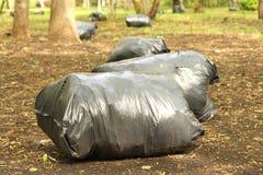 Sciocco dei sacchetti di immondizia di immondizia Fotografie Stock