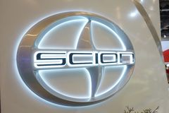 Scion car company logo at Montreal car show Stock Photography