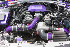 Scion FR-S Coupe engine Stock Photos