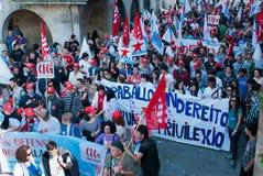 Sciopero generale in Spagna Fotografie Stock Libere da Diritti