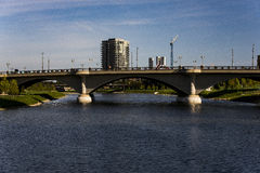 Scioto River and Downtown Columbus, Ohio Stock Image