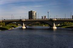 Scioto rzeka Kolumb i śródmieście, Ohio obraz stock