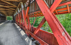 Scipio Covered Bridge Interior Royalty Free Stock Photos