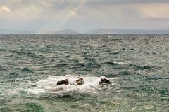 Scirocco на Адриатическом море стоковое фото