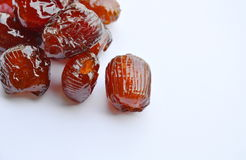 Sciroppo cinese del rivestimento della caramella della giuggiola su fondo bianco fotografia stock libera da diritti