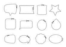 Scissor комплект и границы собрания Стоковые Фото