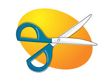 Scissor ilustração stock