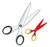 Scissor. Tool in white background Royalty Free Stock Photo