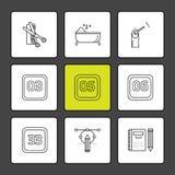 scissor, Badewanne, Nagellack, Kalender, Monate, Kosmetik vektor abbildung